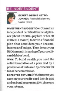 invest R500 per month